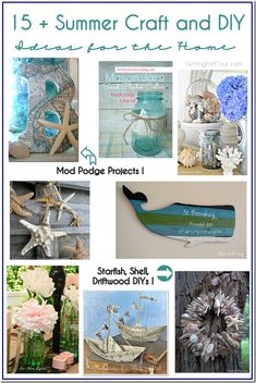 15 Summer Craft and DIY Ideas for the Home from Setting for Four - Cute beachy/coastal vibe!