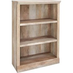 Better Homes and Gardens Crossmill Collection 3-Shelf Bookcase, Weathered