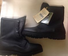 Gore-Tex Intermediate Cold/Wet Water Proof Black Leather Combat Boots Size 13.5 #Belleville #Military