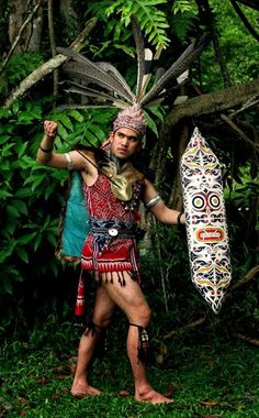IBAN COSTUME(SEA DAYAK) NGEPAN LAKI/LELAKI IBAN FULL REGALIA WARRIOR COSTUME