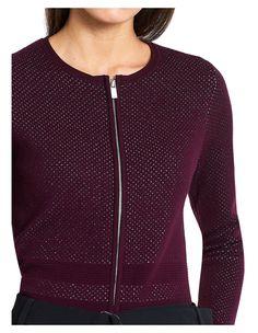 Marcs: Bubble Knit Zip Cardi (Mulberry) Jumper, Men Sweater, Bubbles, V Neck, Zip, Wool, Knitting, Purple, Sweaters