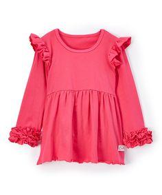 Hot Pink Flutter Tunic - Infant Toddler & Girls