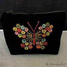 Butterfly purse Hand Embroidery Butterfly by TheEmbroideryCart                                                                                                                                                                                 More