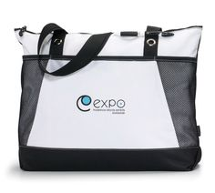Tote your brand with style Zippered main compartment provides ample storage Front  pocket with Velcro closure 534e7d4b5cd2e