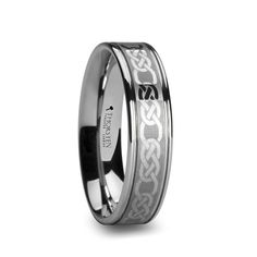 KENMARE Tungsten Carbide Ring with Celtic Pattern | 6mm, 8mm & 10mm