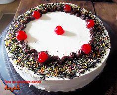 Tarta de mouse de chocolate blanco de Asyut.