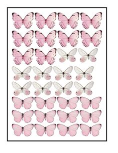 Butterfly Cakes, Butterfly Birthday, Pink Butterfly, Gateau Baby Shower, Party Sweets, Vintage Jewelry Crafts, Butterfly Drawing, Wafer Paper, Anime Art Girl