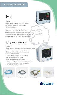 Pasien Monitor Veterinary Biocare IM7 Vet & IM8 Vet | Dunia Alat Kedokteran