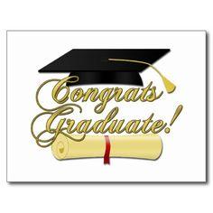 SOLD Congrats Graduate #Diploma and #Graduation hat #Postcard by #PLdesign #GraduationGift #GraduationCard