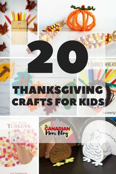 It's almost turkey time! We've rounded up 20 of the best Thanksgiving crafts for kids to help get them pumped for the upcoming holiday. Kindergarten Thanksgiving Crafts, Thanksgiving Crafts For Kids, Thanksgiving Activities, Thanksgiving Wreaths, Fall Crafts, Kids Crafts, Indoor Activities, Activities For Kids, Turkey Wreath