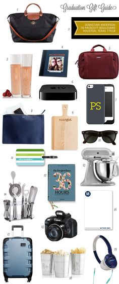 A Great Graduation Gift Guide For Both Guys And Gals By Monica Stolbach A Bar Cart In Brooklyn
