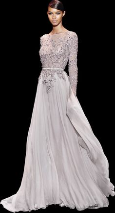 Into my darkest vision she walked like a heavenly light. Ellie Saab - Haute Couture / Fall Winter 2013 - 2014 Seriously, I'm in love. Style Haute Couture, Couture Fashion, Beautiful Gowns, Beautiful Outfits, Costume, Dream Dress, Pretty Dresses, Dress To Impress, Designer Dresses