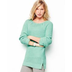 Textured Cotton Tunic Sweater