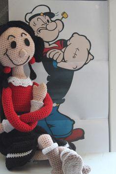 Haakpatroon van Olijfje, Crochet doll Olive, Gehaakte pop Olijfje