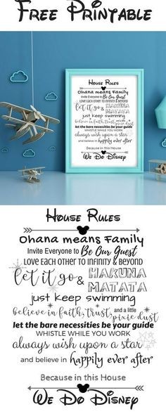 Disney House Rules Free Printable - the perfect home decor for any fan! Disney House Rules Free Printable - the perfect home decor for any fan! Disney Home Decor, Disney Crafts, Diy Disney Decorations, Disney Gift, House Decorations, Disney Printables, Free Printables, Disney Silhouette Printables, Free Printable Quotes