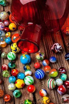 Colorful Marbles  100% ART