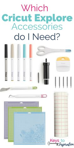 Which Cricut Explore accessories do you really need? Check out this post for a full explanation of all the accessories and which ones you will need with your new Cricut Explore.