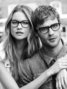 #cute #couple #vintage #glasses #nerds #fashion #photography #summer #monochrome