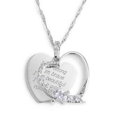 I want this so bad! Personalized Personalized Heart and Star Necklace With Free Keepsake Box.