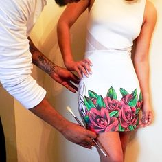 Hand painted dress. Yes please!