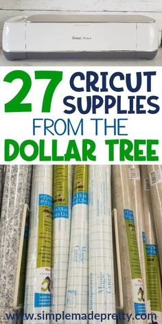 27 Cricut Craft Supplies From The Dollar Tree - Simple Made Cricut Bastelbedarf aus dem Dollarbaum - einfach schön gemacht Source by heusewive. crafts diy projects 27 Cricut Craft Supplies From The Dollar Tree - Simple Made Pretty Dollar Store Hacks, Dollar Stores, Dollar Dollar, Thrift Store Crafts, Cricut Ideas, Cricut Tutorials, Cricut Project Ideas, Dollar Tree Cricut, Dollar Tree Crafts