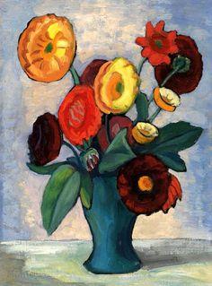 "Gabriele Münter (Berlin 1877-Murnau 1962) ""Dahlien"""