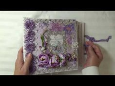 "Cheryl's Paper Creations: Galeria Papieru ""Purple Rain"" Mini Album By Cheryl..."
