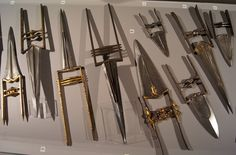 """Indian katar daggers from the """"Deadly Beauty"""" exhibit at the Oriental Museum, Russia."""