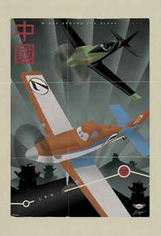 "Japan | 7 Cool Vintage Travel Posters For Disney's ""Planes"" #Disney #Planes #Japan"