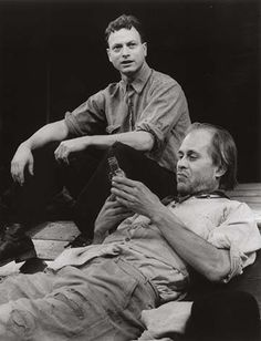 """Gary Sinise as Tom Joad and Terry Kinney as Jim Casy in a scene from the Steppenwolf Theatre Company production of """"The Grapes of Wrath."""""""