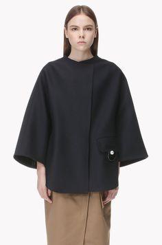Flap pocket point oversized jacket