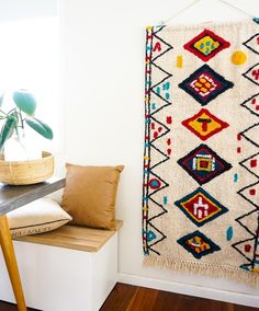 Add an eclectic feature to your living spaces with our woven wall hangings! Measuring x these large textural hangings will most definitely add personality and warmth to your home. Woven Wall Hanging, Tapestry Wall Hanging, Wall Hangings, Fabric Wall Decor, Affordable Art, Living Spaces, Personality, Kids Rugs, Rooms