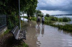 Die Wasserstände von Rhein und Bodensee steigen, an den Ufern wappnen sich Einsatzkräfte gegen Überschwemmungen. Der Verkehr auf Straßen, Gleisen und Flüssen im Südwesten stockt.
