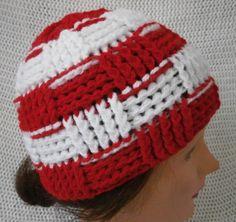 Crochet Basketweave Beanie Hat by KgmAccessories on Etsy