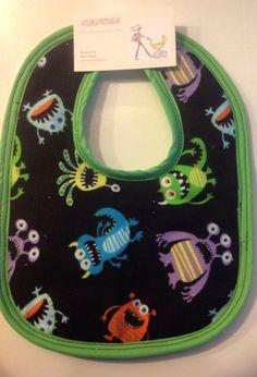 Curlycues Alien Invasion Baby Bib on Etsy, $9.95