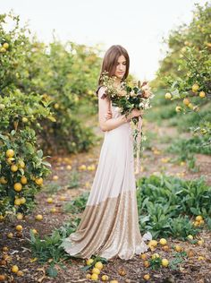 Citrus Orchard~ Gold Sequin Infinity Wrap Dresses $249 ~ Made in the USA Coralie Beatrix  on etsy