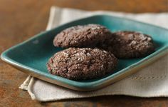 Quick-Mix Chocolate Cookies (Gluten Free) Recipe  /   Minty version...after baking slightly, place a York Peppermint patty between two cookies and bake 5 more minutes.