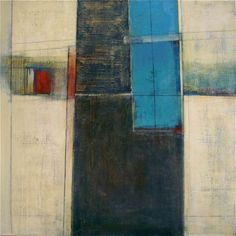 """dailyartjournal: Karen Jacobs, """"Shadowboxing"""", mixed media on canvas Painting Collage, Paintings I Love, Collage Art, Contemporary Abstract Art, Abstract Landscape, Modern Art, Abstract Expressionism, Painting Inspiration, Art Gallery"""