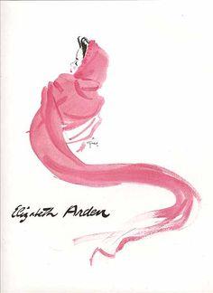 Rene Gruau for Elizabeth Arden,1941.