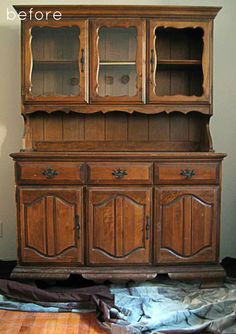 Before & After: A Major China Hutch Makeover Visual Vocabulary