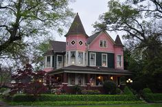 Pink Queen Anne Gingerbread House