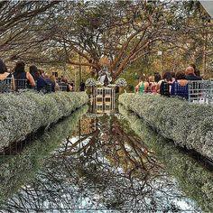 Mirror along the path makes it look like a river! Wedding Church Aisle, Wedding Reception Backdrop, Outdoor Wedding Decorations, Church Decorations, Wedding Venues, Wedding Isle Runner, Wedding Runners, Aisle Runners, Wedding Goals