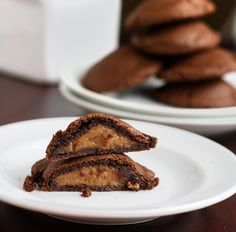 PPK's Vegan Peanut Butter Chocolate Pillows  1/2 c canola oil 1 c sugar 1/4 c maple  3 T milk 1/2 t vanilla extract 1 1/2 cups all-purpose flour 1/3 c unsweetened dutch processed cocoa powder 2 T cocoa powder 1/2 teaspoon baking soda 1/4 teaspoon salt Filling:  3/4 cup natural salted peanut butter, crunchy or creamy style 2/3 cup confectioner's sugar 2 to 3 tablespoons soy creamer or non-dairy milk (I used soy milk) 1/4 teaspoon vanilla extract