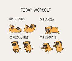 Today  Workout with the pug Metal Travel Mug