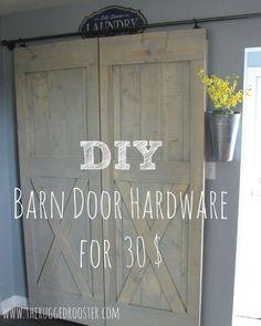 30 easy sliding barn door hardware, diy, doors, kitchen design, rustic furniture