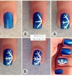 DIY Winter Nail Art ❄
