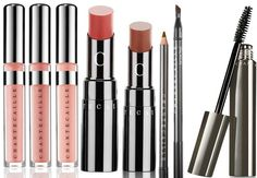 Chantecaille Monte Carlo Collection for Fall 2015 - Brilliant Gloss in: Charm – glistening nude, Classic – sophisticated pinky-brown,  Lucky – soft pink infused with gold pearl   Lip Chic in: Sunrise – bright peachy pink, Sari Rose – nude rose blossom  Gel Liner Pencil,   Faux Cils Mascara