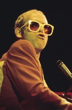 English singersongwriter Elton John performing on stage circa 1976 Cummins, Stock Pictures, Stock Photos, Tiny Dancer, Live Music, Photo Book, Royalty Free Photos, Singer, Specs