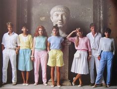 the 80's style pleats everywhere!