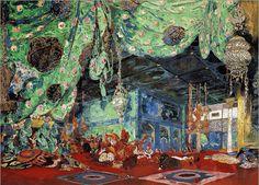 Stage Set Design - Leon Bakst - Scheherazade - Ballet Russes